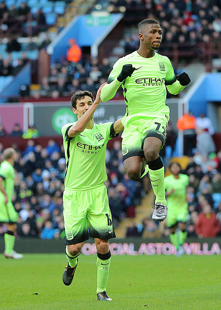 563f3b913c1 Kelechi Iheanacho of Manchester City celebrates after scoring a penalty to  make it 0-2