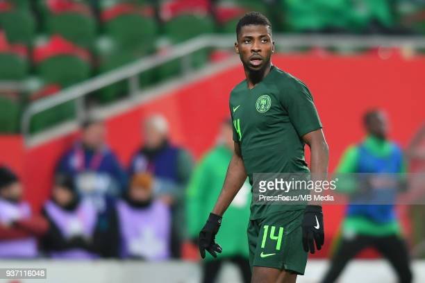 Kelechi Iheanacho of Nigeria during the international friendly match between Poland and Nigeria at the Municipal Stadium on March 23 2018 in Wroclaw...