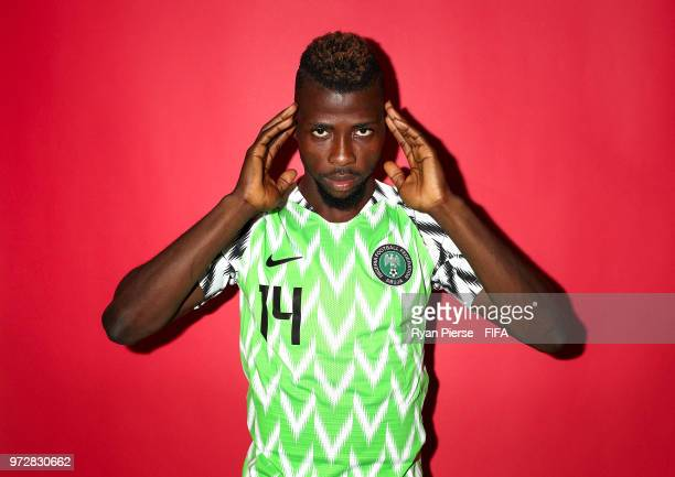 Kelechi Iheanacho of Nigeria poses during the official FIFA World Cup 2018 portrait session on June 12 2018 in Yessentuki Russia