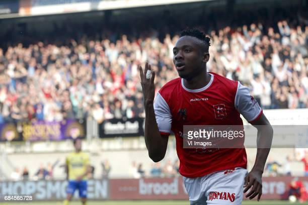 Kelechi Nwakali of MVV Maastrichduring the Dutch Jupiler League playoffs match between MVV Maastricht and Cambuur Leeuwarden at the Geusselt on May...