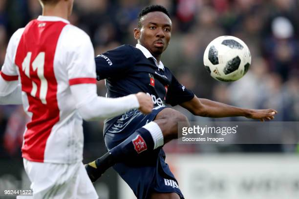 Kelechi Nwakali of MVV Maastricht during the Dutch Jupiler League match between Ajax U23 v MVV Maastricht at the De Toekomst on April 28 2018 in...