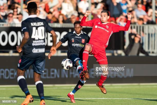 Kelechi Nwakali of MVV Maastricht Jonathan Okita of MVV Maastricht Faris Hammouti of Almere City FC during the Dutch Jupiler League playoffs match...