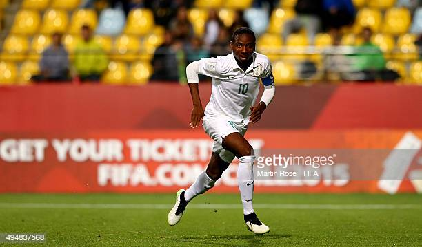 Kelechi Nwakali of Nigeria runs during the FIFA U17 Men's World Cup 2015 round of 16 match between Nigeria and Australia at Estadio Sausalito on...