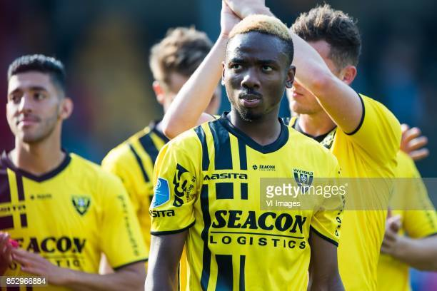 Kelechi Nwakali of VVV Venlo during the Dutch Eredivisie match between VVV Venlo and PEC Zwolle at Seacon stadium De Koel on September 24 2017 in...