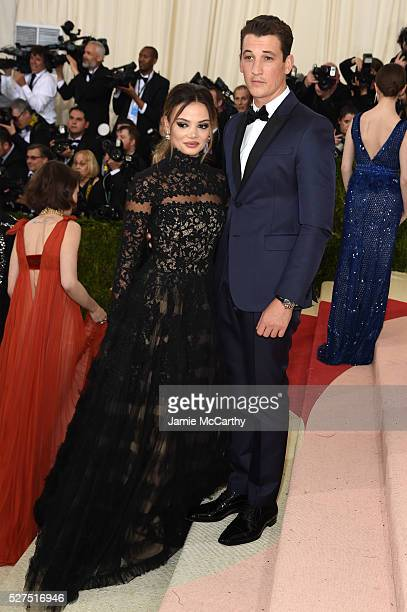 Keleigh Sperry and Miles Teller attend the 'Manus x Machina Fashion In An Age Of Technology' Costume Institute Gala at Metropolitan Museum of Art on...