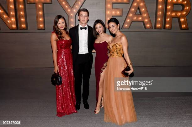 Keleigh Sperry Miles Teller Jenna Dewan and Emmanuelle Chriqui attend the 2018 Vanity Fair Oscar Party hosted by Radhika Jones at Wallis Annenberg...