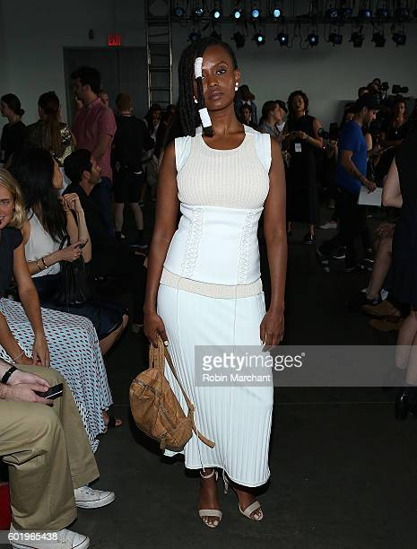 Kelela attends Dion Lee Front Row September 2016 during New York Fashion Week at Pier 59 Studios on September 10 2016 in New York City