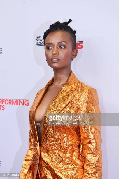 Kelela Mizanekristos attends the 70th Annual Parsons Benefitat Pier Sixty at Chelsea Piers on May 21 2018 in New York City