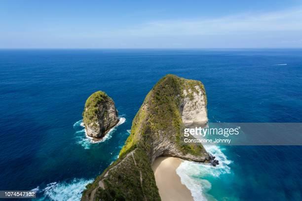 Kelingking Beach Rock Formation or T-Rex Bay, Nusa Penida Island, Bali, Indonesia