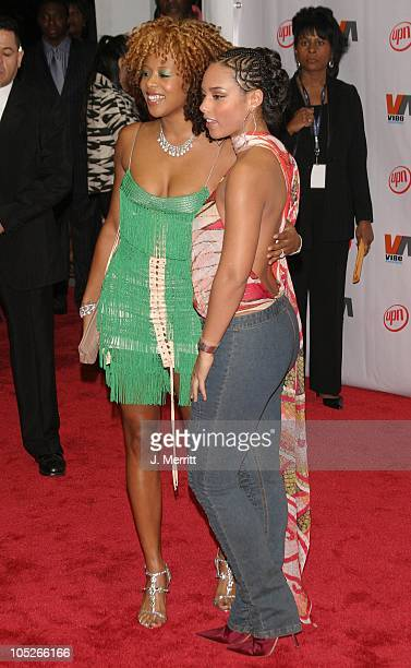 Kelis and Alicia Keys during 2003 Vibe Awards Arrivals at Santa Monica Civic Auditorium in Santa Monica California United States