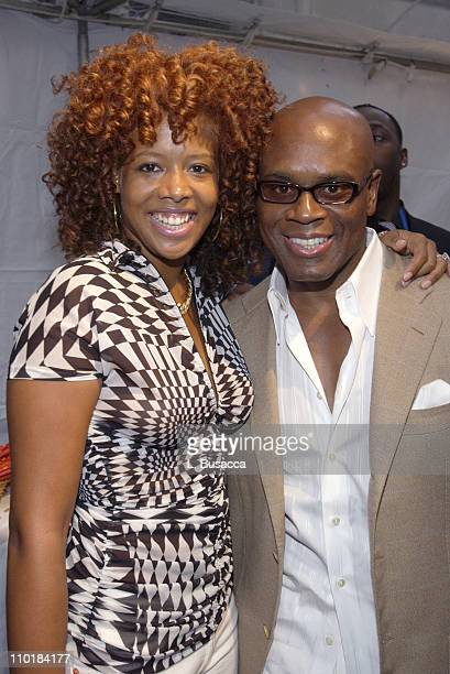 Kelis and Antonio 'LA' Reid during 'Arista Reloaded' at the 2003 BMG US Label Presentations Reception at Bryant Park Grill in New York City New York...