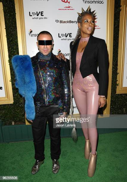 Kelis and guest attend the 1st annual Data Awards at Hollywood Palladium on January 28 2010 in Hollywood California