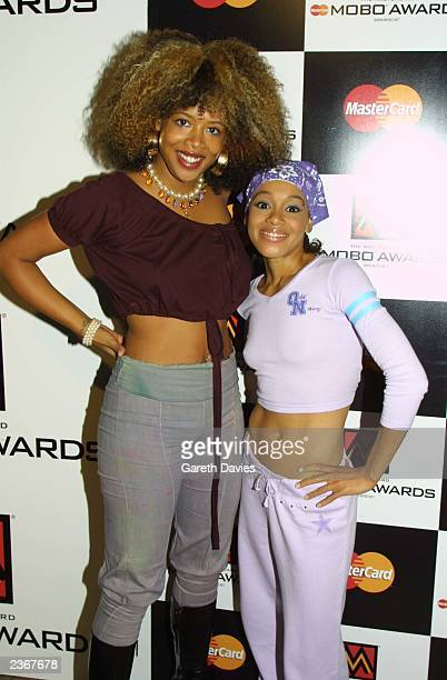 Kelis and last years presenter Lisa Left Eye Lopez at the MOBO nominations party at Cargo in London 8/29/01 Photo by Gareth Davies/Mission...