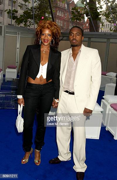 """Kelis and Nas attend """"Glamour Magazine's Women Of The Year Awards"""" celebrating achievements of women at Berkeley Square Gardens, on June 8, 2004 in..."""