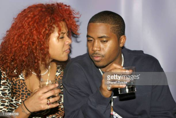 Kelis and Nas during Jacob Co Store Grand Opening After Party at Aire in New York United States