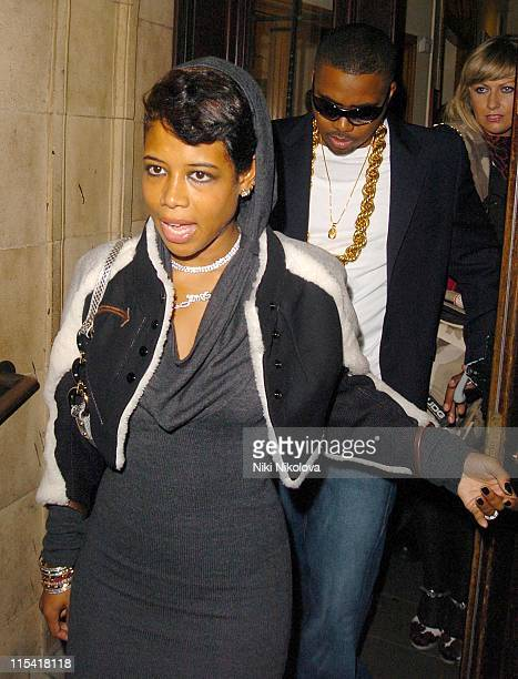 Kelis and Nas during JayZ in Concert at Royal Albert Hall in London Departures September 27 2006 at Royal Albert Hall in London Great Britain