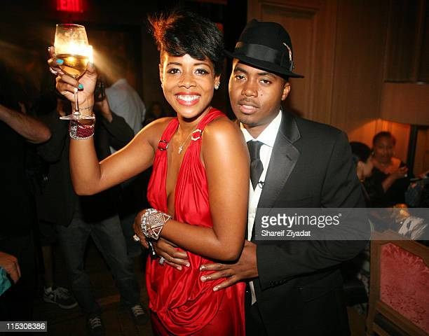 Kelis and Nas during Kelis Birthday Dinner at Buddakan in New York United States