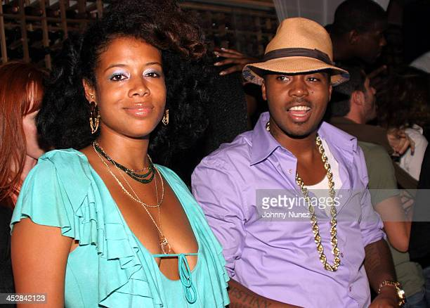 Kelis and Nas during Nas Birthday Party - September 12, 2005 at Butter in New York City, New York, United States.