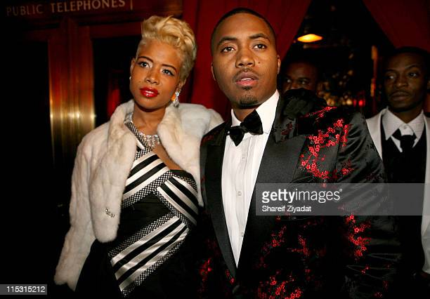 Kelis and Nas during Nas Celebrates His New Album 'Hip Hop is Dead' at His Black White Ball December 18 2006 at Capitale in New York City New York...
