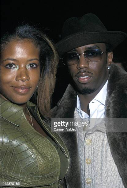 Kelis and Sean 'P Diddy Combs during Luca Luca Fall 2002 Fashion Show at Bryant Park in New York City New York United States