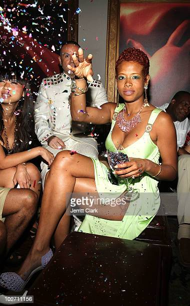 Kelis attends her 'Flesh Tone' album release party at RdV Lounge on July 7 2010 in New York City