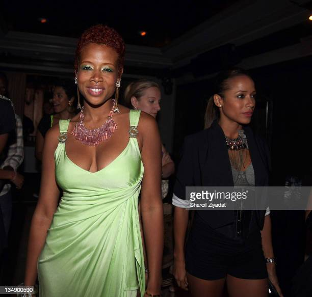 Kelis attends Kelis' 'Flesh Tone' album release party at RdV Lounge on July 7 2010 in New York City