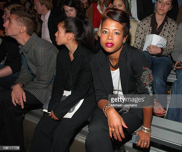Kelis during Olympus Fashion Week Spring 2007 - Y-3 - Front Row at Pier 40 in New York City, New York, United States.