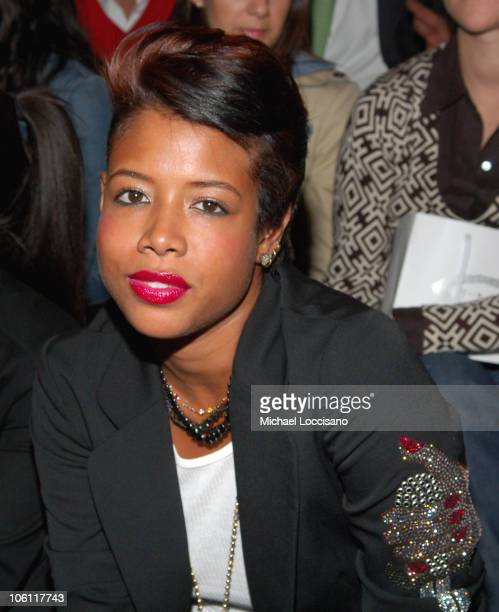 Kelis during Olympus Fashion Week Spring 2007 Y3 Front Row at Pier 40 in New York City New York United States