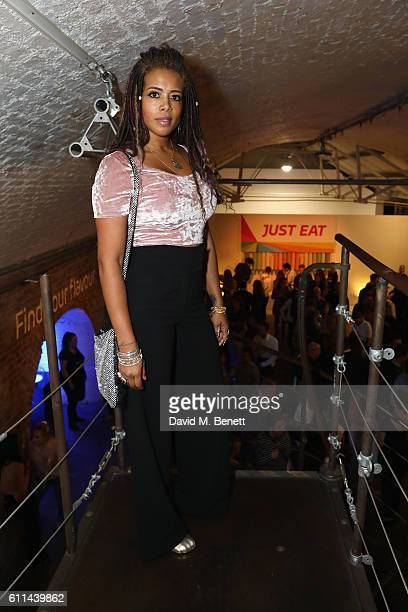 Kelis enjoys food innovation and discovery at the Just Eat Find Your Flavour event with fresh cuisines from around the world on September 29 2016 in...
