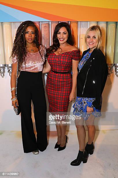 Kelis Kelly Brook and Ashley Roberts enjoy food innovation and discovery at the Just Eat Find Your Flavour event with fresh cuisines from around the...