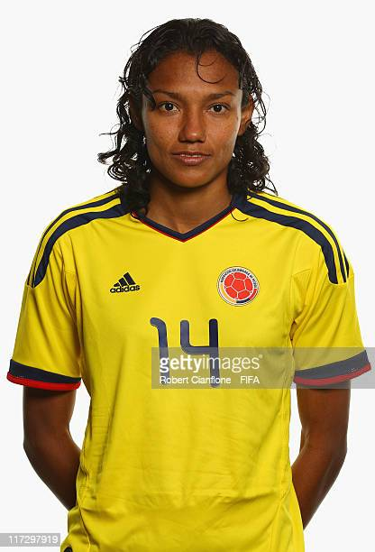 Kelis Peduzine of Colombia during the FIFA portrait session on June 25 2011 in Cologne Germany