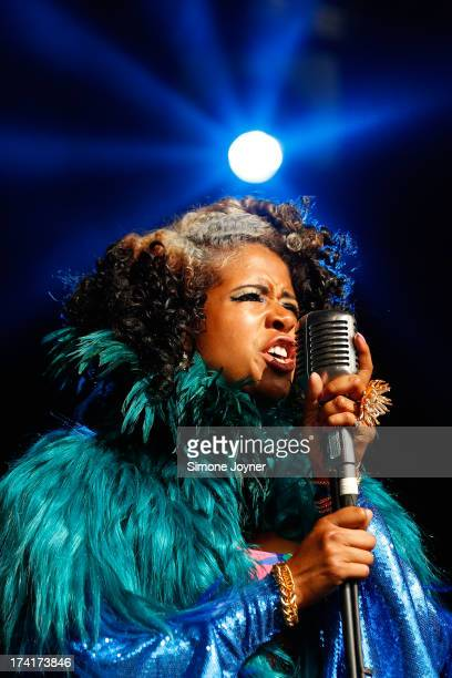 Kelis performs live on The Terrazza Stage during day three of the Lovebox festival at Victoria Park on July 21 2013 in London England