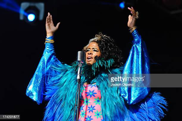 Kelis performs on Day 3 of the Lovebox festival at Victoria Park on July 21 2013 in London England