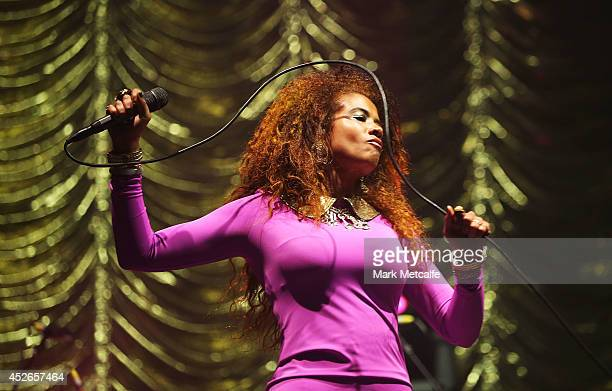 Kelis performs on stage at Splendour In the Grass 2014 on July 25 2014 in Byron Bay Australia