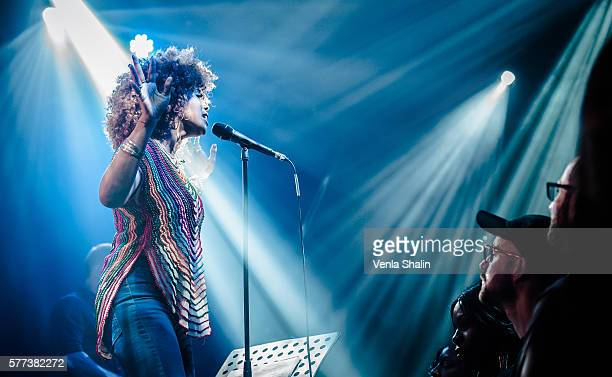 Kelis Rogers of Kelis performs at The Jazz Cafe on July 16 2016 in London England