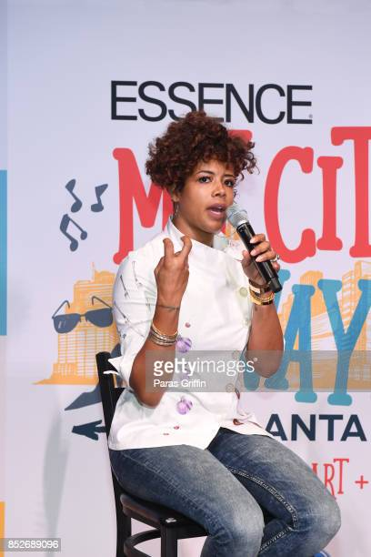 Kelis speaks onstage at ESSENCE Ford My City 4 Ways at The Garage at Tech Square on September 23 2017 in Atlanta Georgia