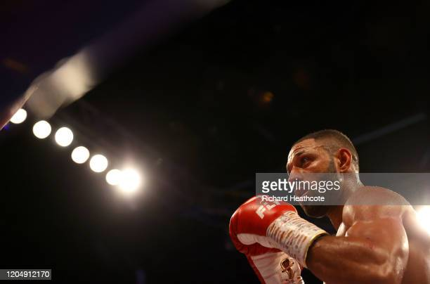 Kell Brook in action during the WBO Intercontiental SuperWelterweight Title Fight between Kell Brook and Mark DeLuca at FlyDSA Arena on February 08...