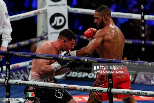 Kell Brook lands a left hook on Mark DeLuca during the WBO InterContinantal Super Welterweight title fight between Kell Brook and Mark DeLuca at...