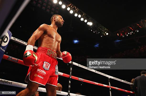Kell Brook looks on ahead of the World Middleweight Title contest against Gennady Golovkin at The O2 Arena on September 10 2016 in London England
