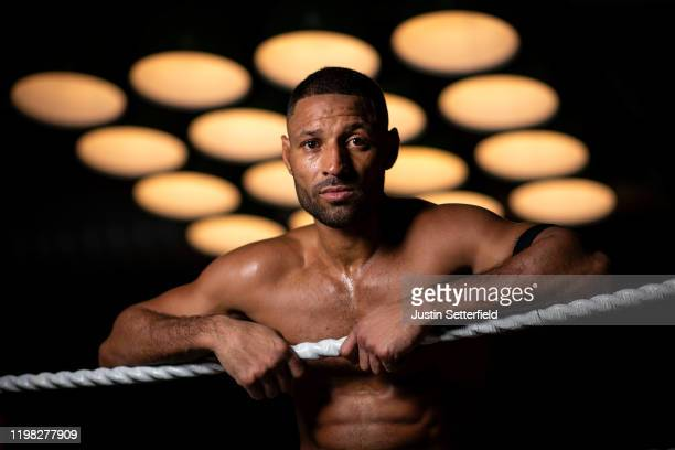Kell Brook poses for a portrait ahead of his fight with Mark DeLuca on February 8 during a Kell Brook Media Workout at the 12x3 gym on January 08,...