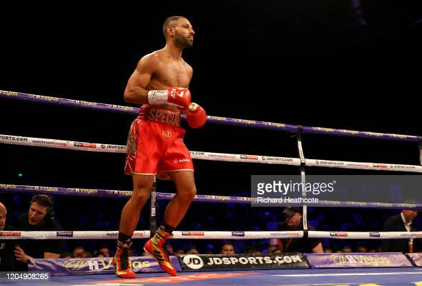 Kell Brook prepares for his fight prior to the WBO Intercontiental SuperWelterweight Title Fight between Kell Brook and Mark DeLuca at FlyDSA Arena...