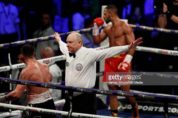 Kell Brook stops Mark DeLuca during the WBO InterContinantal Super Welterweight title fight between Kell Brook and Mark DeLuca at FlyDSA Arena on...
