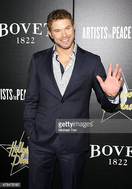 Kellan Lutz arrives at the Hollywood Domino's 7th Annual PreOscar Charity Gala held at Sunset Tower on February 27 2014 in West Hollywood California