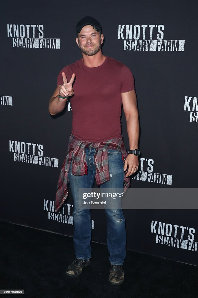 Kellan Lutz arrives at the Knott's Scary Farm and Instagram's Celebrity Night at Knott's Berry Farm on September 29, 2017 in Buena Park, California.
