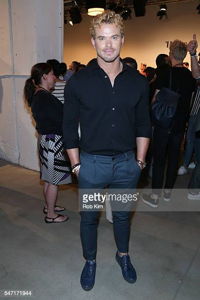 Kellan Lutz attends the Thorsun fashion presentation during New York Fashion Week Men's S/S 2017 at Skylight Clarkson Sq on July 13 2016 in New York...