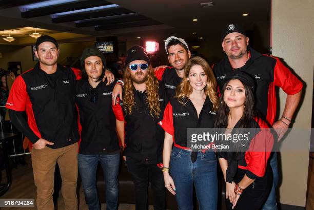 Kellan Lutz Blair Redfor Dingo Ashley Greene Tom Welling and Cassandra Scerbo bowl at The Inaugural Mammoth Film Festival on February 10 2018 in...