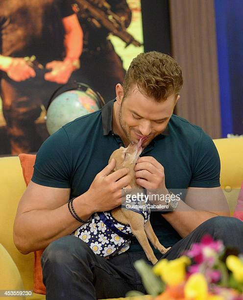 Kellan Lutz is on the set of Despierta America at Univision Headquarters on August 13 2014 in Miami Florida