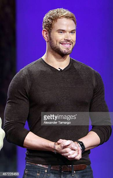 Kellan Lutz visits Telemundo to promote the movie 'The Legend Of Hercules' at Telemundo Studio on December 16 2013 in Miami Florida