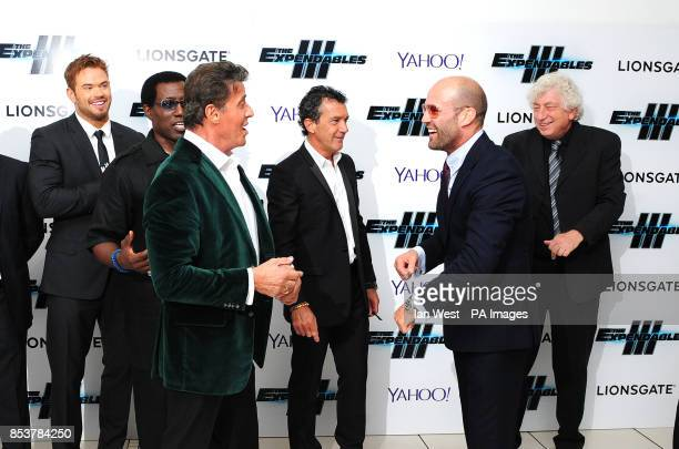 Kellan Lutz Wesley Snipes Sylvester Stallone Antonio Banderas and Jason Statham and Avi Lerner attending the premiere of new film the Expendables III...