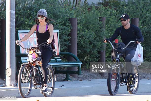 Kellan Lutz with a mystery woman believed to be his new girlfriend on December 3 2014 in Los Angeles California